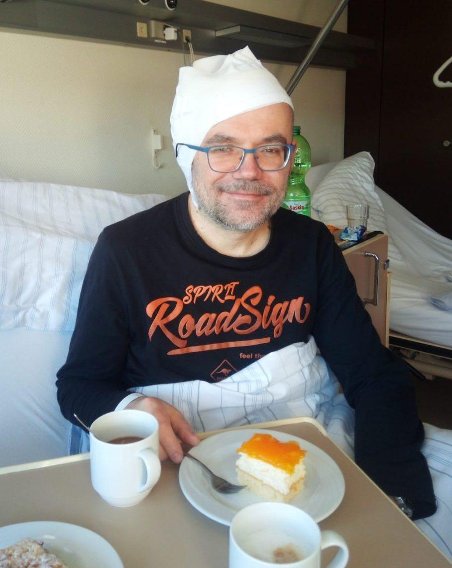 Mit mir ist schon wieder gut Kuchenessen.